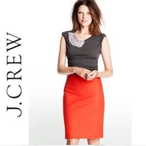 J Crew Red Orange Pencil Skirt ✅Accepting Offers